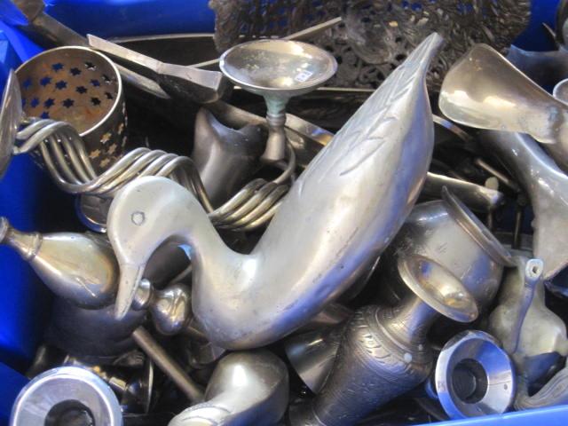 Bin of brass goods