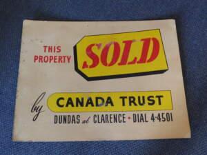 vintage sold sign